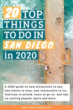 Check out my guide on 20 top things to do in San Diego in 2020 featuring new attractions, new restaurants, festivals worth traveling for and more. California Travel Guide, Usa Travel Guide, Travel Usa, Travel Tips, Travel Ideas, California Trip, Beach Travel, Canada Travel, Travel Destinations