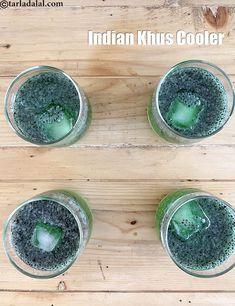 khus drink recipe | khus cooler | homemade khus lemon drink | Refreshing Drinks, Summer Drinks, Sore Throat Tea, Basil Tea, Tulsi Tea, Indian Drinks, Falooda, Buttermilk Recipes, Lemon Drink