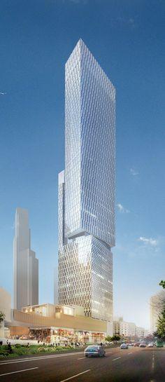 China Resources Center, Park Hyatt Qingdao, China :: height 250m