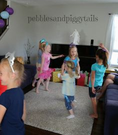 Freeze Dance - dancing to Frozen tunes and every few minutes pausing the music so the girls FREEZE in whatever position they're in