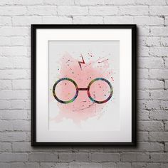 Watercolour paintings – Harry Potter art print poster printable wall decor – a unique product by DigitalAquamarine on DaWanda