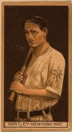1912 Brown Backgrounds T207 #77 Grover Hartley Front