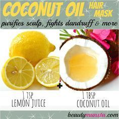 Lemon juice and coconut oil hair mask that fights dandruff and cleanses scalp from deep within the hair follicles: