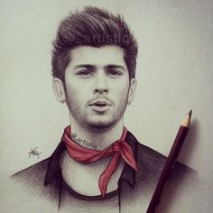 """Quick sketch of Zayn! One Direction Art, One Direction Drawings, Malik One Direction, Colored Pencil Techniques, Celebrity Drawings, Egyptian Goddess, Horse Drawings, Guy Drawing, Quick Sketch"