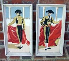Vintage Paint by Number  Toreodors by by smittystreasurechest, $50.00