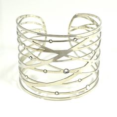 JJ Caprices - Silver Strand Cuff by LK Designs