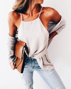 High neck cami.