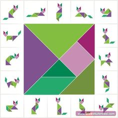 Tangram Örnekleri Early Learning, Fun Learning, Learning Activities, Montessori Activities, Preschool Activities, Art For Kids, Crafts For Kids, Tangram Puzzles, Math Games