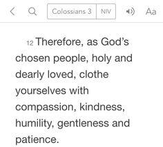 Colossians 3:12 (NIV)