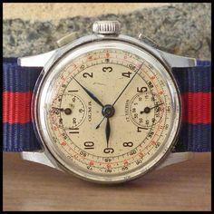 1940's OLMA [Swiss] Restored Vintage Chronograph Watch HW Venus Cal. 170; 35mm