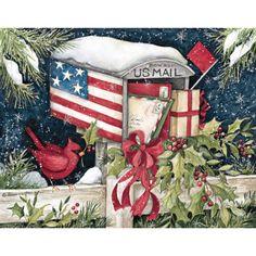 Snowy Night Santa Personalized Christmas Cards | Vintage Christmas ...