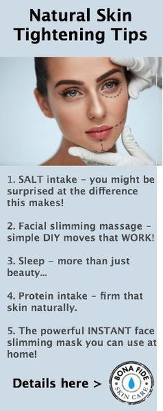 5 natural skin tightening tips that are surprising simple yet powerful! Firmer, smoother, younger looking skin, the right way!