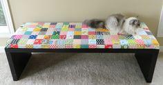 https://flic.kr/p/oetZ8B | patchwork bench cushion | blogged…