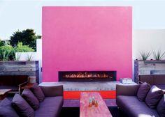 Bold pink wall at The Saguaro Hotel