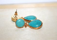 SALE EXPRESS SHIPPING Turquoise Gemstone Drop by JewelrybyOz / Bridesmaid jewelry set of 2 3 4 5 6 7 8 9 10 / 8 mm / Earrings / Necklace / Bracelets