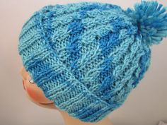 Balls to the Walls Knits: Slouchy Baby-Cabled Stocking Hat
