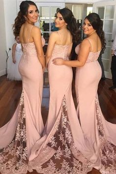 New Style Bridesmaid Dress Long Bridesmaid Gown Blush Pink Bridesmaid Gowns Mermaid Bridesmaid Dresses Lace Bridesmaid Gowns Bridesmaid Dress Vintage Bridesmaid Gowns With Spaghetti Straps Vintage Bridesmaids Gowns, Blush Pink Bridesmaid Dresses, Bohemian Bridesmaid, Beautiful Bridesmaid Dresses, Bridesmaid Hair, Cheap Long Dresses, Vestidos Vintage, Wedding Party Dresses, Prom Dresses