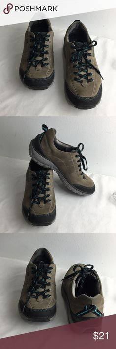 Clarks Wave Walk Sneakers Good preowned condition Some scuffs and stains Lots of wear left.  Walking Hiking Taupe and Black Clarks Shoes Sneakers