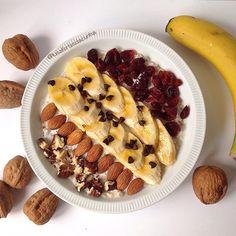My Casual Brunch: Papas de aveia com banana e arandos