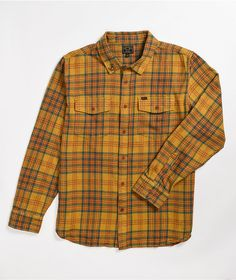 Throw some killer looks into your outerwear looks with the Dark Seas Zion yellow and orange flannel shirt. The traditional anchor lapel pin shows up at the fold-down collar, giving you that classic, seaworthy look, while the yellow and orange colorway gives this plaid flannel some fresh color. Plaid Flannel, Flannel Shirt, Vans Authentic Black, Black Snapback Hats, Black And White Canvas, Skinny Fit Jeans, Black Skinnies, Plaid Pattern, Orange