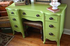Benjamin Moore Huntington Green dresser paint color | Involving Color Paint Color Blog