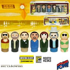 The Big Lebowski Pin Mate Set of 7 - Convention Exclusive $34.99 SDCC 2016 Entertainment Earth Booth #2343