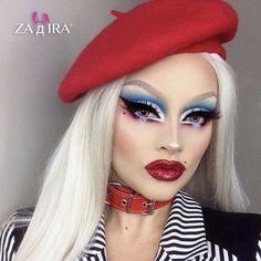 Drag Make-up, Drag Queens, Crazy Makeup, Makeup Looks, Drag Queen Make-up, Bio Queen, Makeup Art, Hair Makeup, Makeup Ideas
