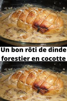 A good roast forest turkey in a casserole dish - An easy, succulent, quick and cheap forest turkey roast recipe! The sauce is delicious and allows t - Easy Casserole Recipes, Casserole Dishes, Roast Recipes, Turkey Recipes, Appetizer Recipes, Dinner Recipes, Healthy Drinks, Healthy Recipes, Good Roasts