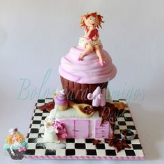 Cupcake party - by Bolos para Amigos by Tânia Maroco @ CakesDecor.com - cake decorating website