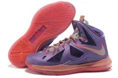 promo code b70cf a2175 Laser Purple Strata Grey - Total Crimson 583108-500 Womens Nike Lebron 10  All Star