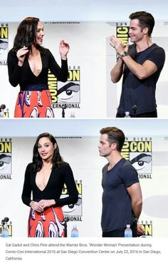 Gal Gadot + Chris Pine @ SDCC 2016
