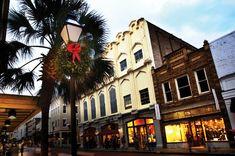 Christmas Shopping on King Street in historic Charleston, South Carolina