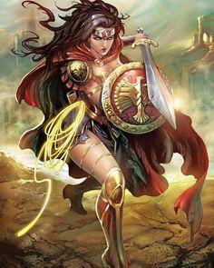Wonder Woman by Tyler Kirkham by Oracle - DC Comics Comic Book Artwork Wonder Woman Kunst, Wonder Woman Art, Wonder Woman Comic, Wonder Women, Superman Wonder Woman, Héros Dc Comics, Dc Comics Characters, Comics Girls, Female Characters