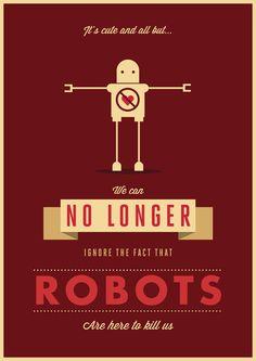 Cute Robot Art Print by Prakash Khatri Chhetri #robots