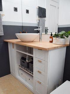 Double Vanity, New Homes, Interior Design, Bathroom, Furniture, Rural House, Painting Bathroom Walls, Elegant Bathroom Decor, Bath