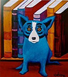 The Blue Dog by artist George Rodrigue... a famous Icon of Louisiana! :-)