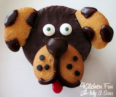ding dog doggies - Nilla wafers and chocolate - would be cute on cupcakes!
