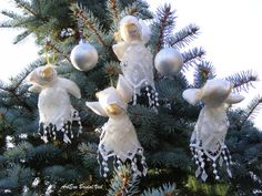 Angels doll handmade Christmas tree ornaments by ArtEraBridal