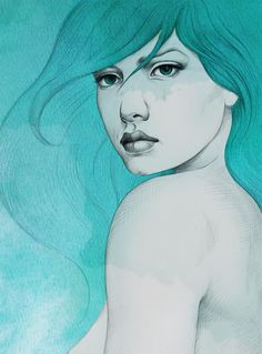 Argentina native and freelance illustrator Diego Fernandez really knows how to create some gorgeous women. It's easy to focus on his work because he offers no distractions. It's all about women in strong, as well as, beautifully vulnerable states.Diego Fernandez's website