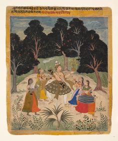Vasant Ragini folio from a Ragamala Series