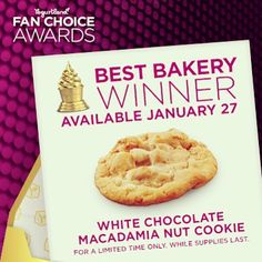 ... White Chocolate Macadamia Nut Cookie! In stores while supplies last. #