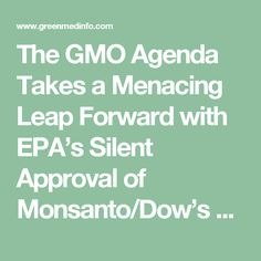 The GMO Agenda Takes a Menacing Leap Forward with EPA's Silent Approval of Monsanto/Dow's RNAi Corn