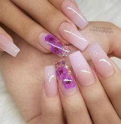 Cute Acrylic Nail Designs, Best Nail Art Designs, Beautiful Nail Designs, Beautiful Nail Art, Summer Acrylic Nails, Best Acrylic Nails, Milky Nails, Nagel Bling, Almond Nail Art