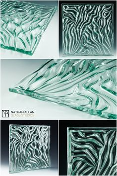 Nathan Allan Glass Studios is introducing new product Grooves Architectural Cast Glass. Standard maximum panel size: mm x 3000 mm) Contact us for specific details. Kiln Formed Glass, Cast Glass, Glass Material, Glass Texture, Hospitality Design, Glass Design, Hand Blown Glass, Glass Panels, Glass Jewelry