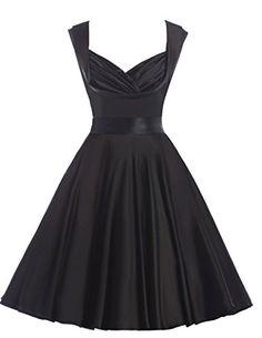 Vintage 1950's Swing dresses Sleeveless V Neck Black S Belle Poque Retro Dress http://www.amazon.com/dp/B013HY5546/ref=cm_sw_r_pi_dp_rI41wb1C02Y1K