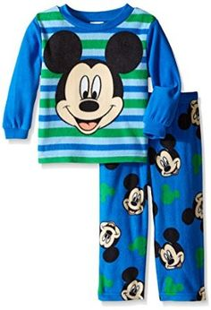 Amazon.com: Disney Little Boys' Mickey Mouse 'A Friendly Face' 2-Piece Pajama Set: Clothing