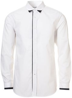topman    crisp white shirt w/ black detail    http://Pinterest.com/Treypeezy  http://OceanviewBLVD.com