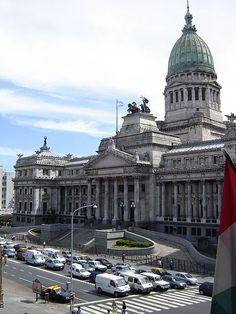 Vista del Congreso de la Nación Argentina