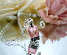 Miniature Pink Perfume Bottle