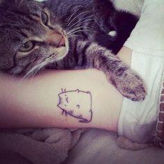Cute_Chubby-Cat-Tattoo-On-Ankle                                @Rebecca Dezuanni Dewitt